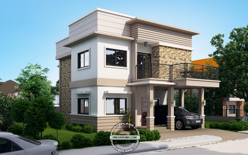 Juliet, 2 Story House with Roof Deck | Pinoy ePlans