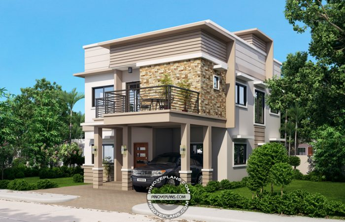 4 Storey House Design With Roof Deck