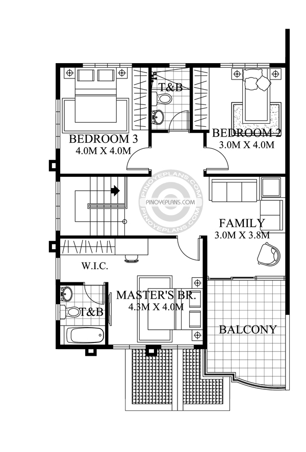 2 story house plan -Johanne-Model-Second-Floor-Plan
