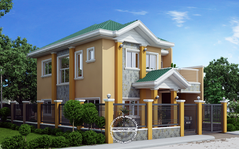 Johanne 2 story house plan with firewall pinoy eplans for Www eplans com house plans