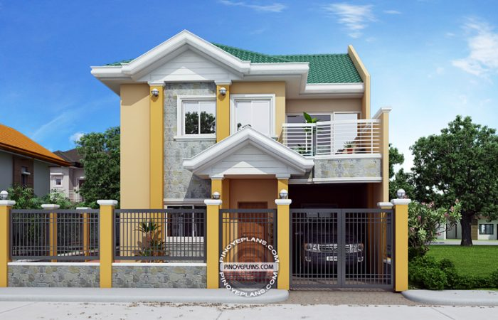 2 story house plan front view