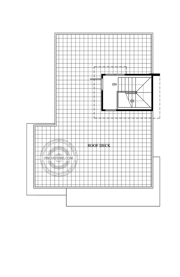 Roof deck plan of 2 story house