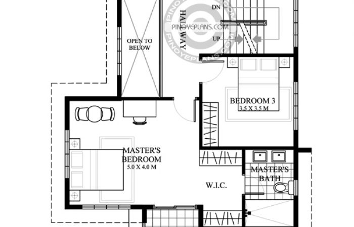 2 story house with roof deck second floor plan
