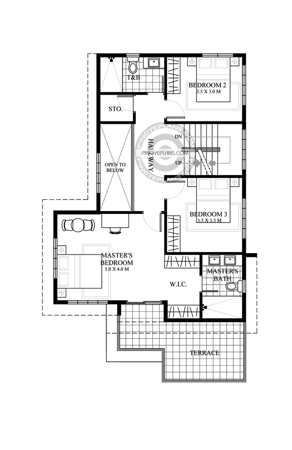 Juliet 2 story house with roof deck pinoy eplans for 2nd story house plans