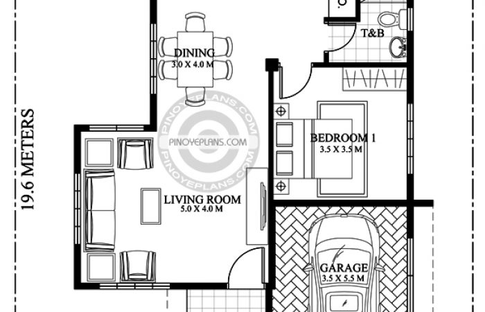 2 bedroom house floor plan
