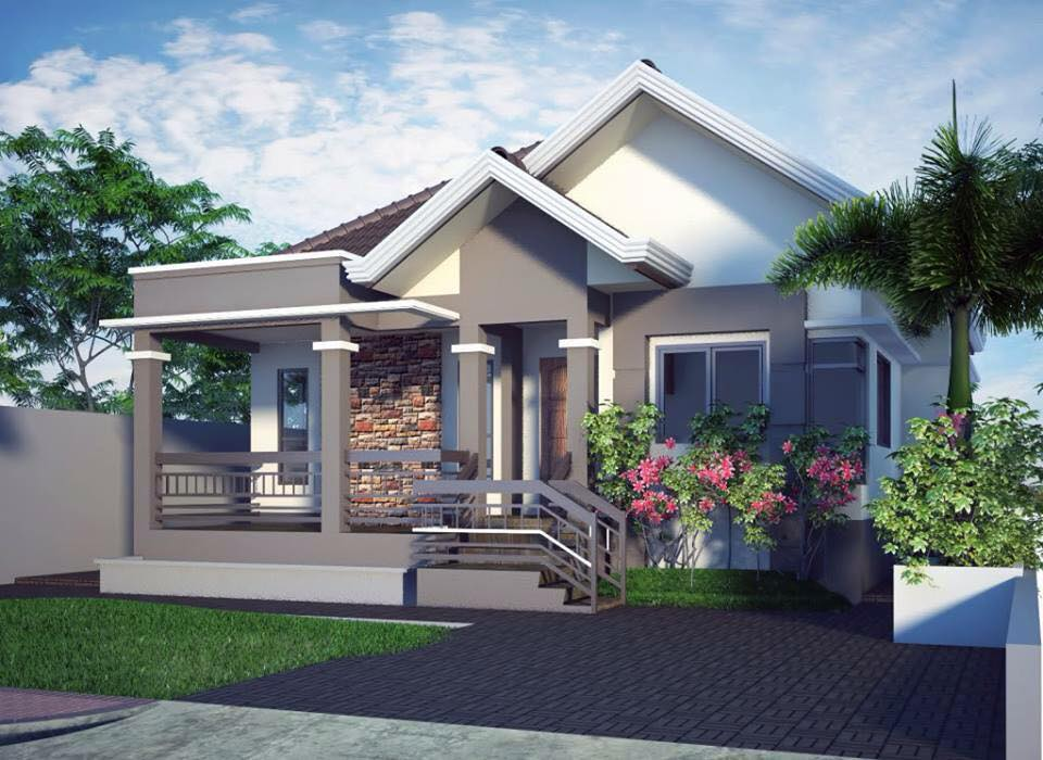 elevated bungalow house design with 3 bedrooms | pinoy eplans