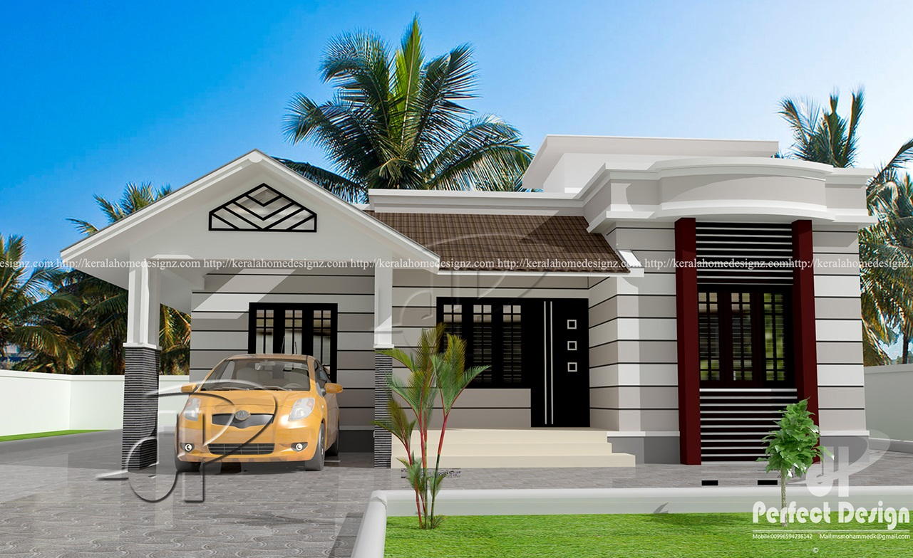Gorgeous one story house with roof deck pinoy eplans for Deck house designs