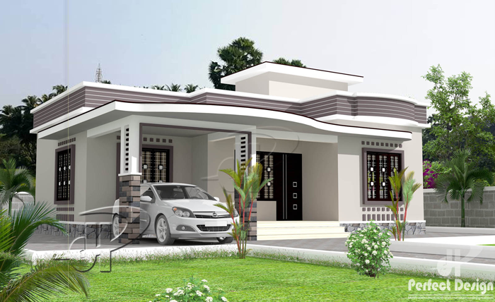 Simple 2 bedroom floor plan with roof deck pinoy eplans for Two bedroom house design plans