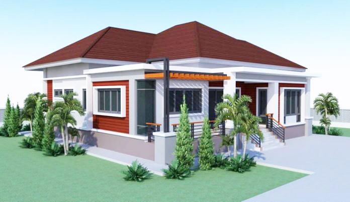 2 Bedroom House Design in 160 Sq.m. floor Area | Pinoy ePlans