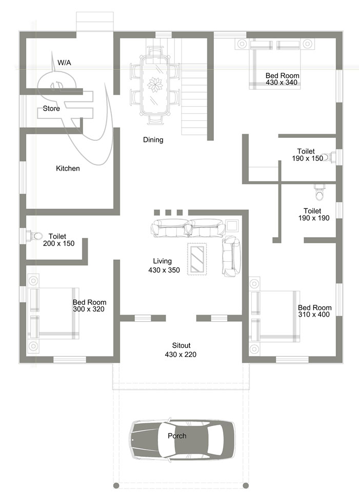 3 Bedroom With Roof Deck House Design