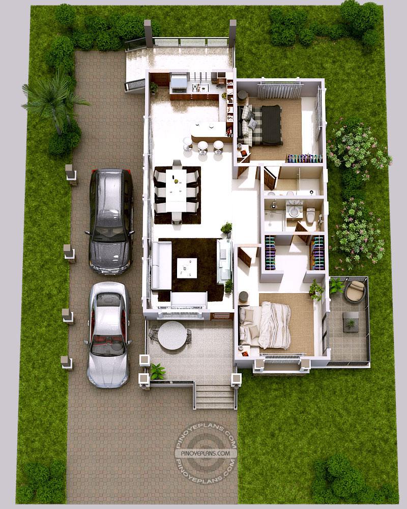 Luxury 2Bedroom Elevated House Design – Saudi Aramco Housing Floor Plans