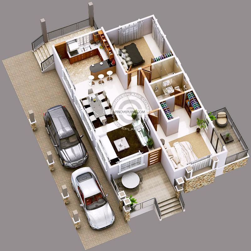 Luxury 2-Bedroom Elevated House Design | Pinoy ePlans