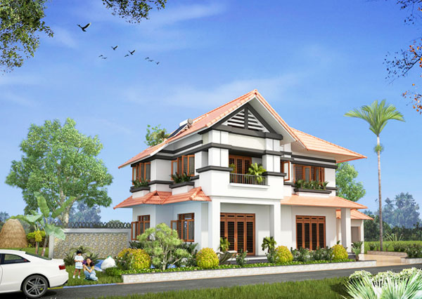 Four Bedroom Two Storey House Design