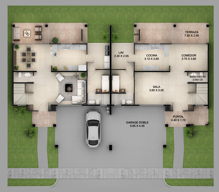 3 Luxury Duplex House Plans with Actual Photos | Pinoy ePlans