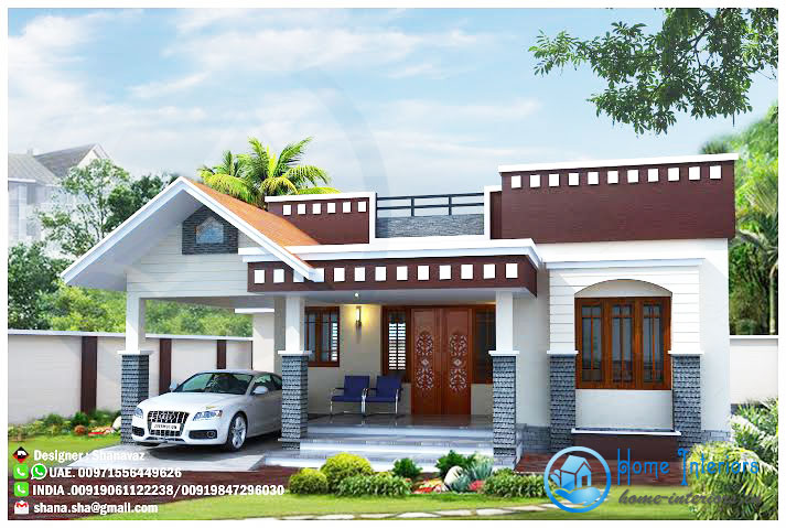 Modern One Story Home 1 - View Small Home Front Roof Design  Gif