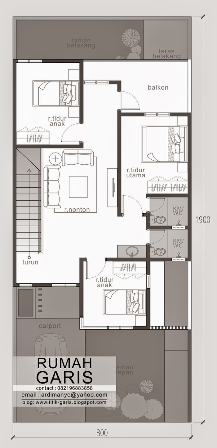Two Story Narrow Lot House Plan | Pinoy ePlans on