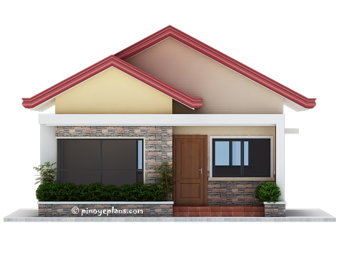 small 2 bedroom houses single storey 3 bedroom house plan pinoy eplans 17084 | SHD 2017032 DESIGN2 Front View