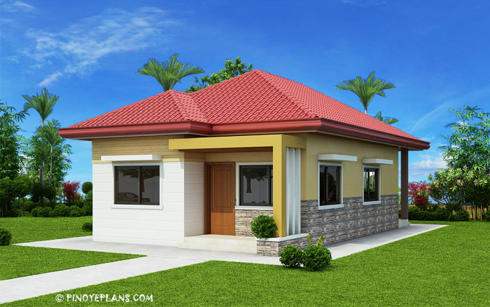 SHD 2017032 DESIGN2 View03 1 - 22+ Simple Very Small House 1 Bedroom House Design PNG