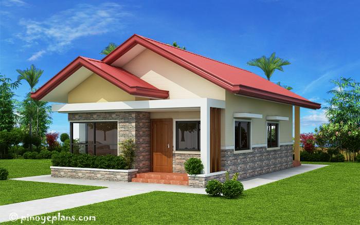 SHD 2017032 DESIGN2 View03 - Get 3 Bedroom Single Story Modern House Floor Plans Background