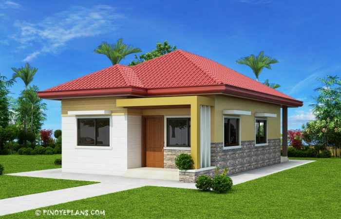 simple house image  Simple Yet Elegant 3 Bedroom House Design (SHD-2017031) | Pinoy ePlans