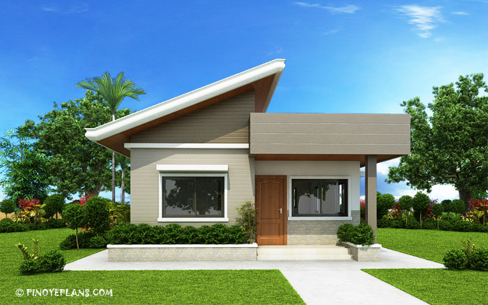 Two Bedroom Small House Design Shd 2017030 on small bungalow house plans
