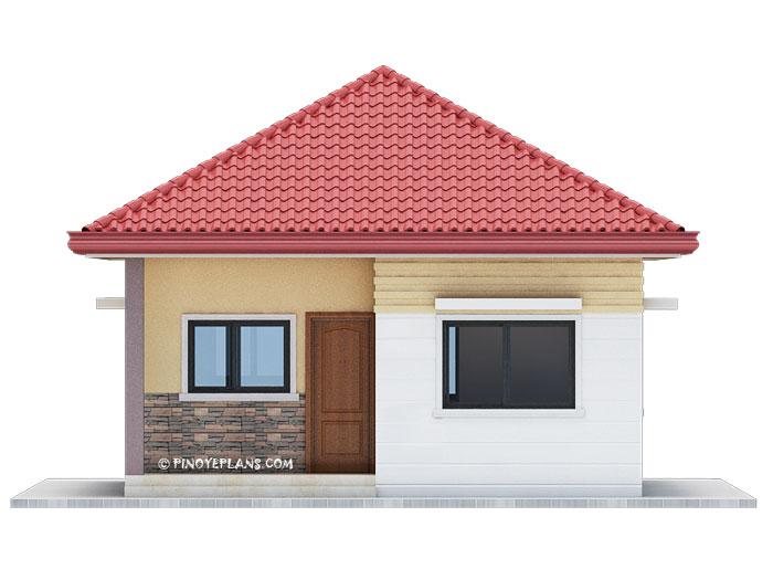 Simple yet elegant 3 bedroom house design shd 2017031 for Front portion design of house