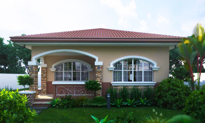 Single Floor House Is Very Attractive With Color Combination Truly Inspiring Maroon Colored Metal Tile Roofing Sheet Galvanized Iron Of Steel Roof