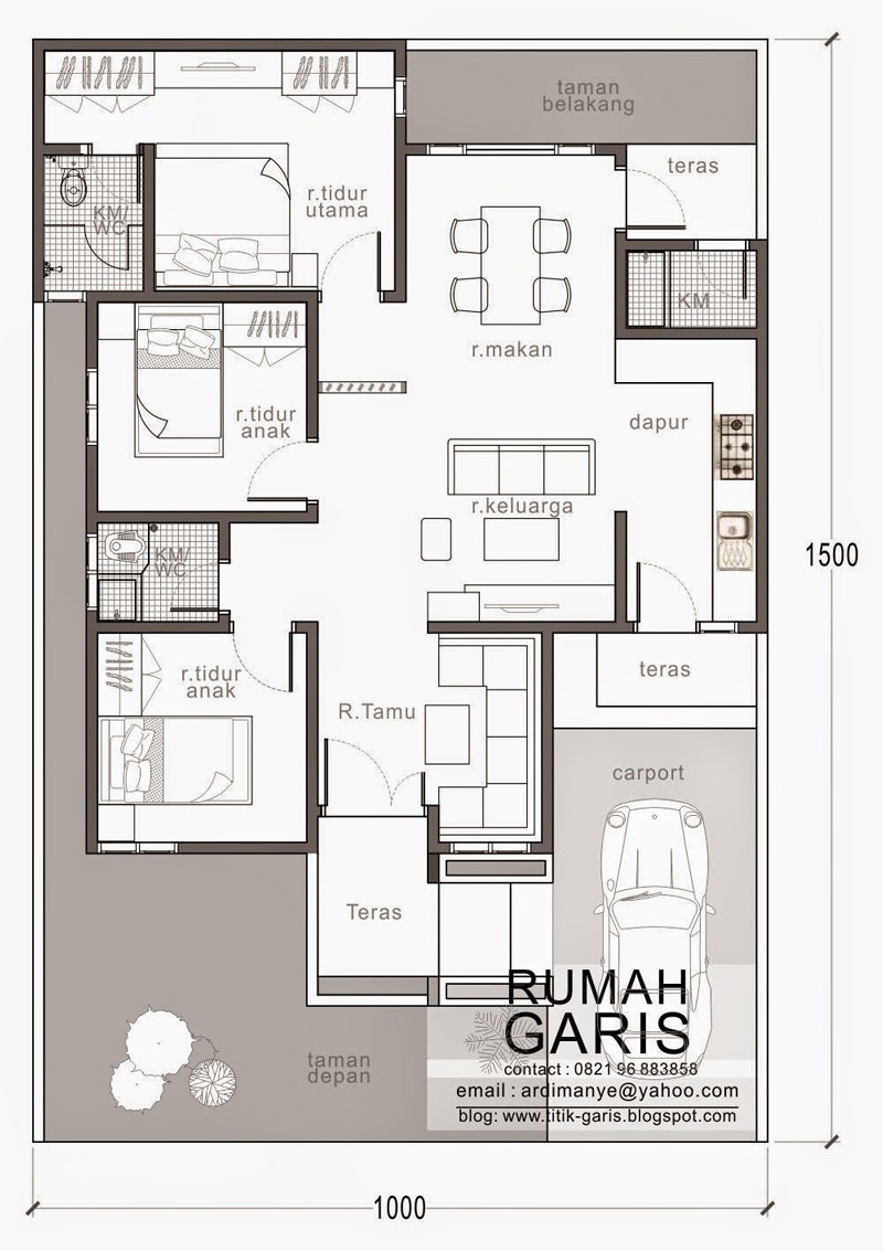 8 Car Garage Plans >> Three Bedroom House Design in 150 Sq.m. Lot | Pinoy ePlans
