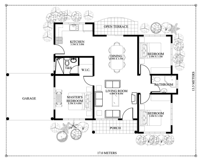 Three Bedroom House Concept Pinoy Eplans