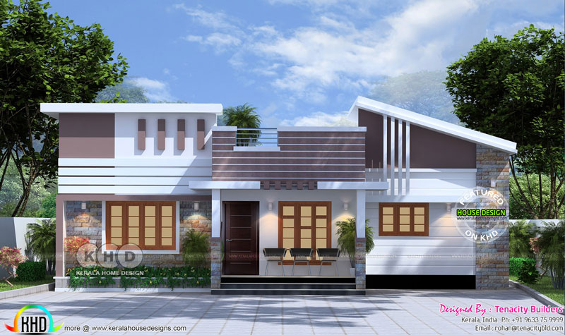 Attractive Modern One Story House Design