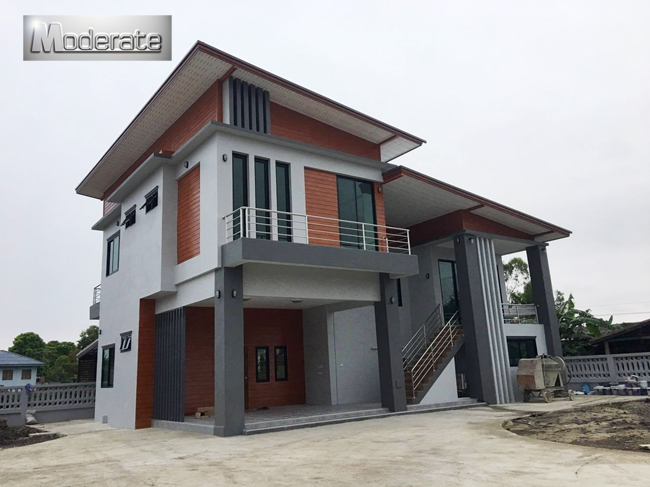 Modern Style One and a Half Storey House Plan | Pinoy ePlans on