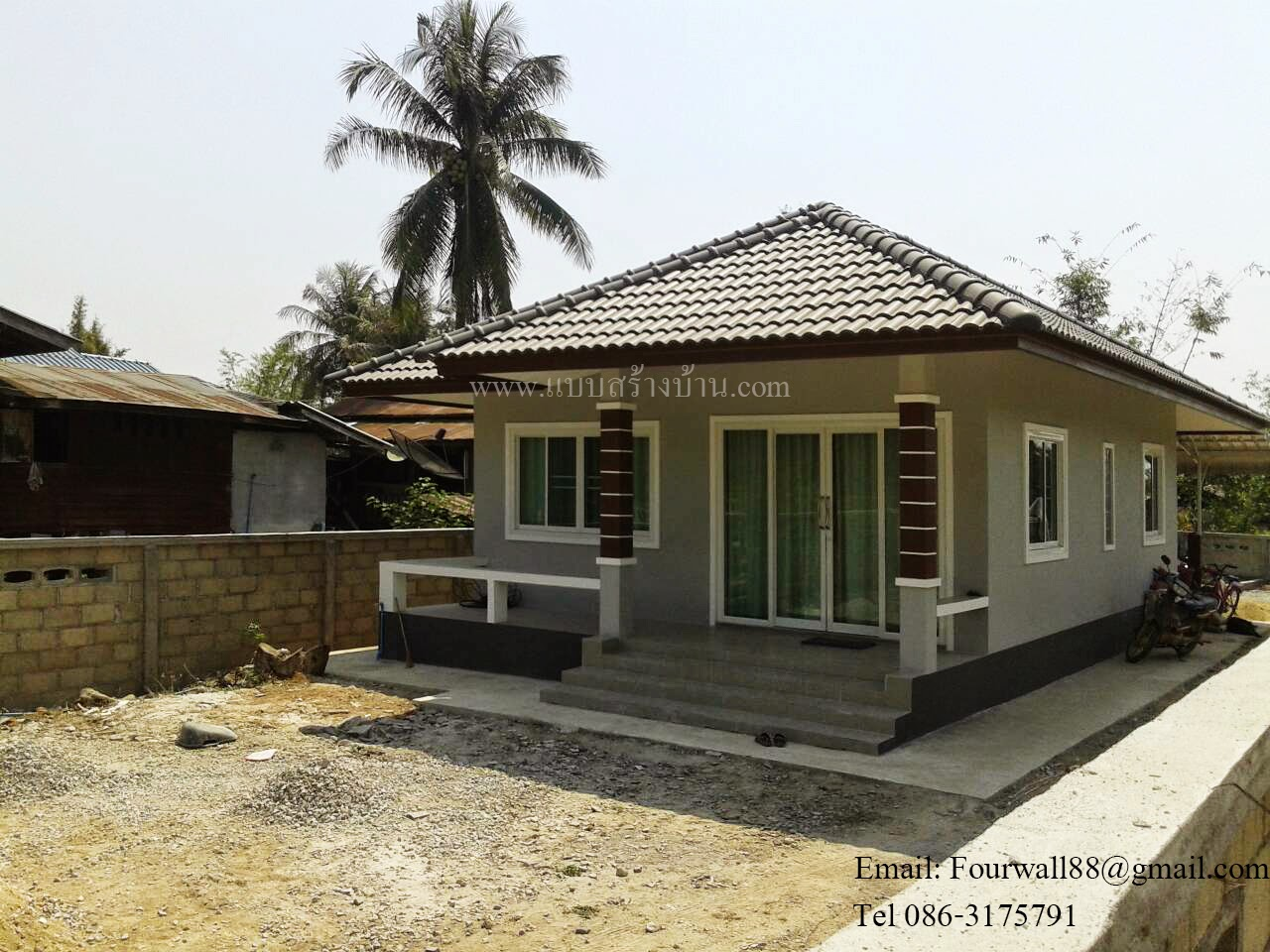 Modern one storey house with two bedrooms pinoy eplans