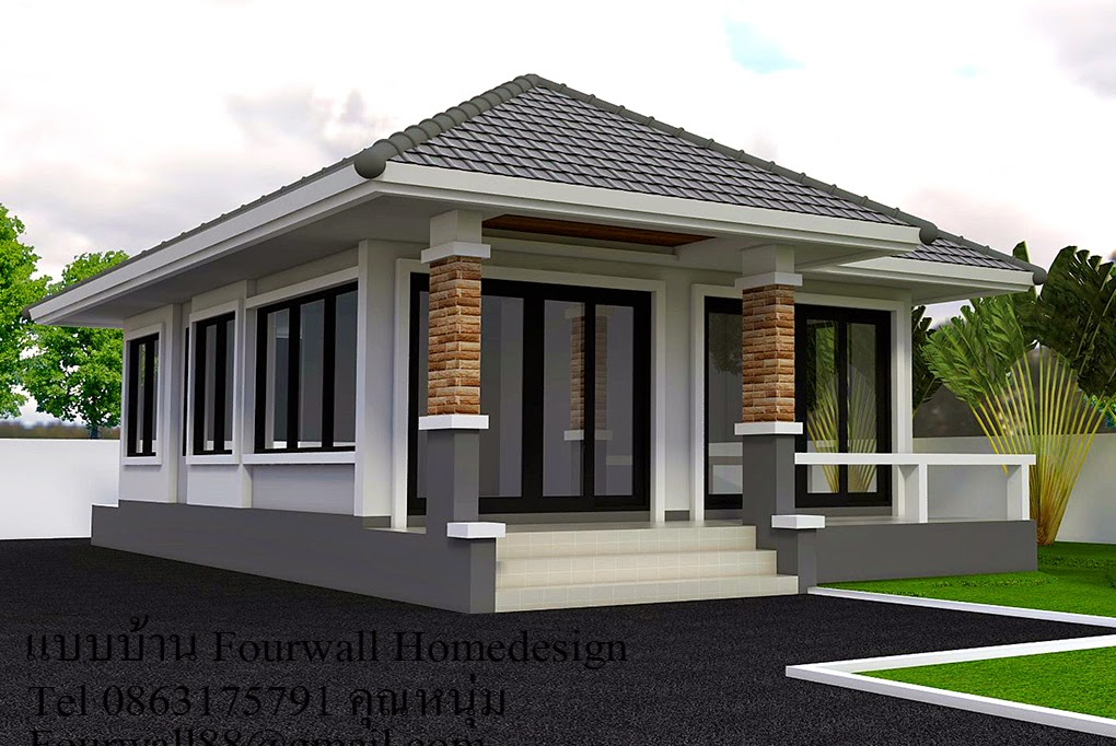 Modern One Storey House >> Modern One Storey House With Two Bedrooms Pinoy Eplans