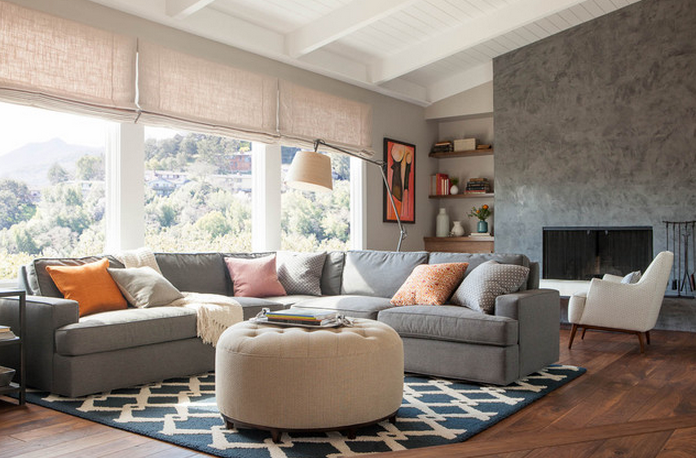 Your living room should be inviting and comfortable. [Image Credit: Home]