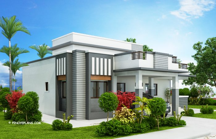 Four Bedroom Modern House Design | Pinoy ePlans