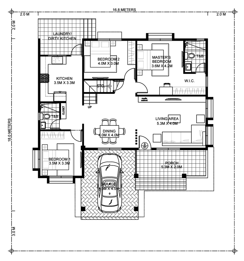 Four Bedroom Modern House Design   Pinoy ePlans