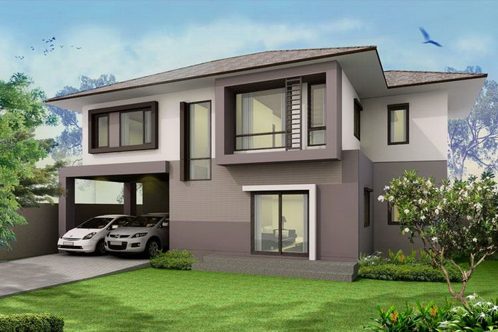 These contemporary house plans promotes space, simplicity, and leisure. [Image Source: Naibann]