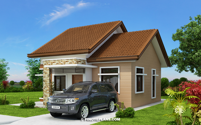 Stylish Two Bedroom House Plan