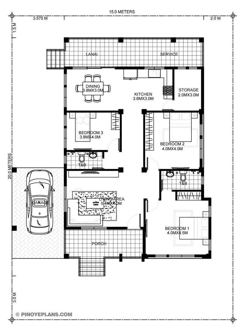 miranda  elevated 3 bedroom with 2 bathroom modern house