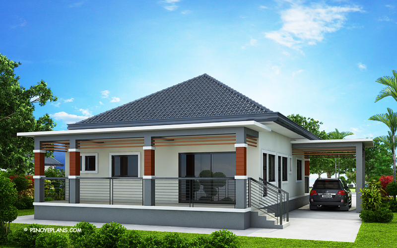 Miranda Elevated 3 Bedroom With 2 Bathroom Modern House Pinoy Eplans