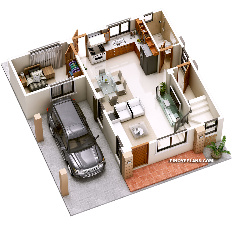 Bungalow 3d Floor Plan: Havana – Two Storey House With Spacious Terrace
