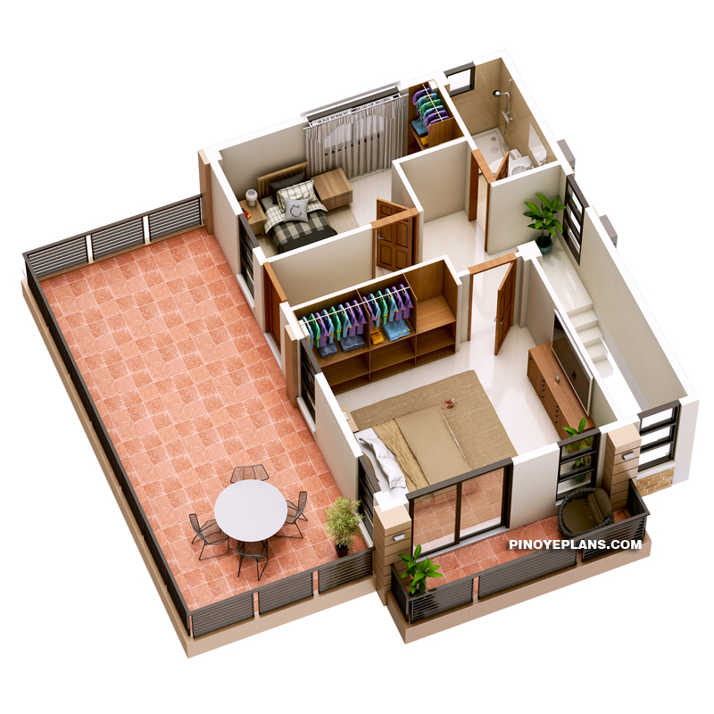 Havana Two Storey House With Spacious Terrace Pinoy Eplans