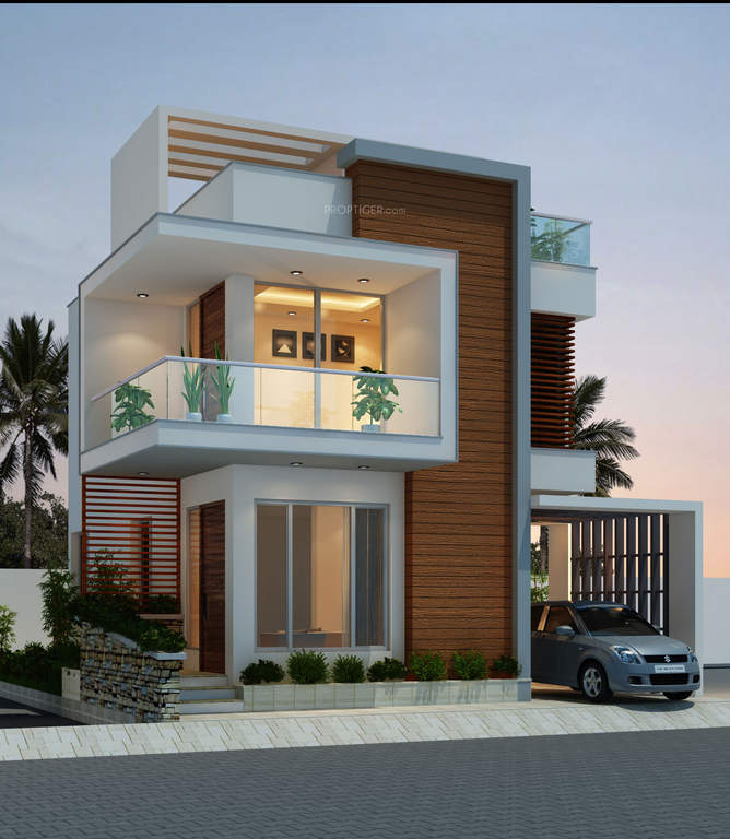 New House Design Plans: Elegant Modern House Plan With Three Bedrooms And Three