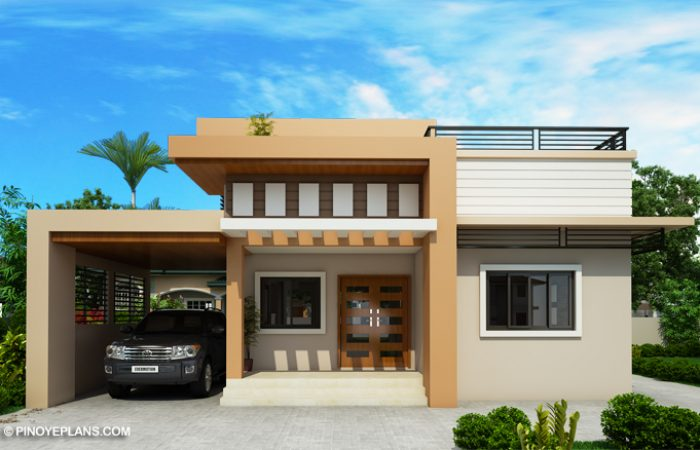 Kassandra Two Storey House Design With Roof Deck Pinoy