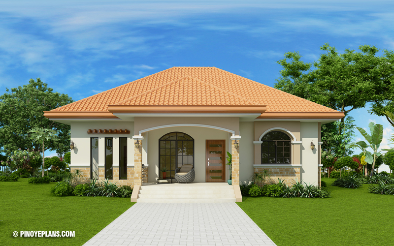Three Bedroom Bungalow House Design | Pinoy ePlans