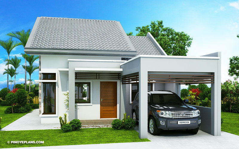 Wanda Simple 2 Bedroom House With Fire Wall Pinoy Eplans