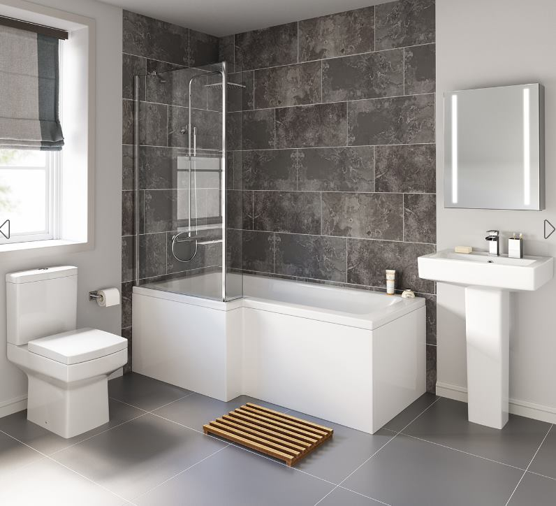 Walk-in Shower Over A Bathtub