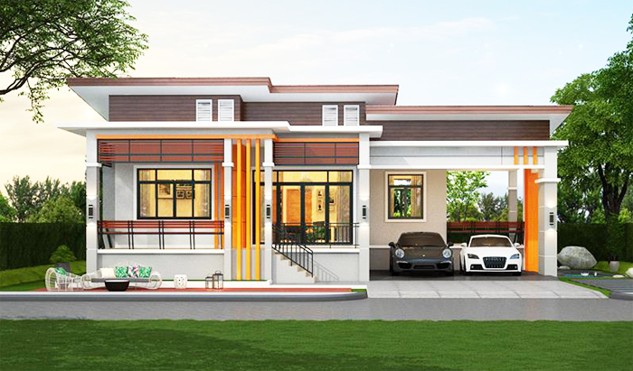 Elevated One Storey House