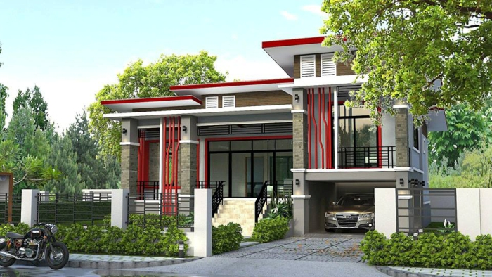 Split Level Modern House Design with Three Bedrooms ...