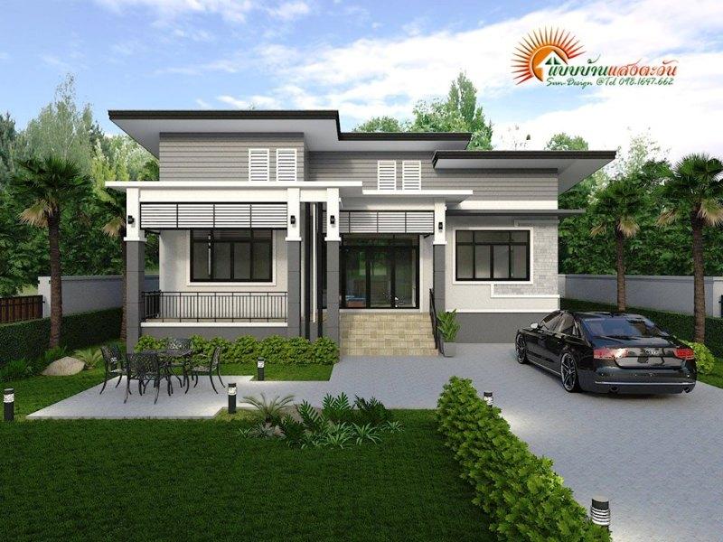 Exquisite design of a three-bedroom modern bungalow ...